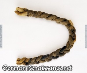 Extant false braid from the 15th-16th centuries.