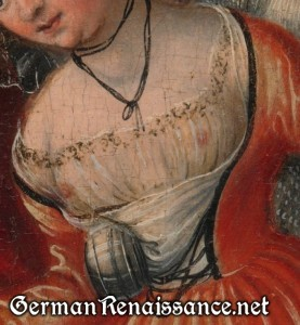 Detail from Christ and the Adultress by Lucas Cranach, Metropolitan Museum of Art (1982.60.35)