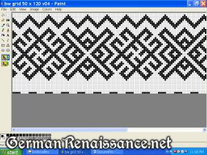 Original pattern with fylfots