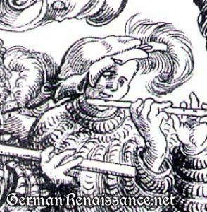 Detail from Reislaufer Musicians by Urs Graf, 1523
