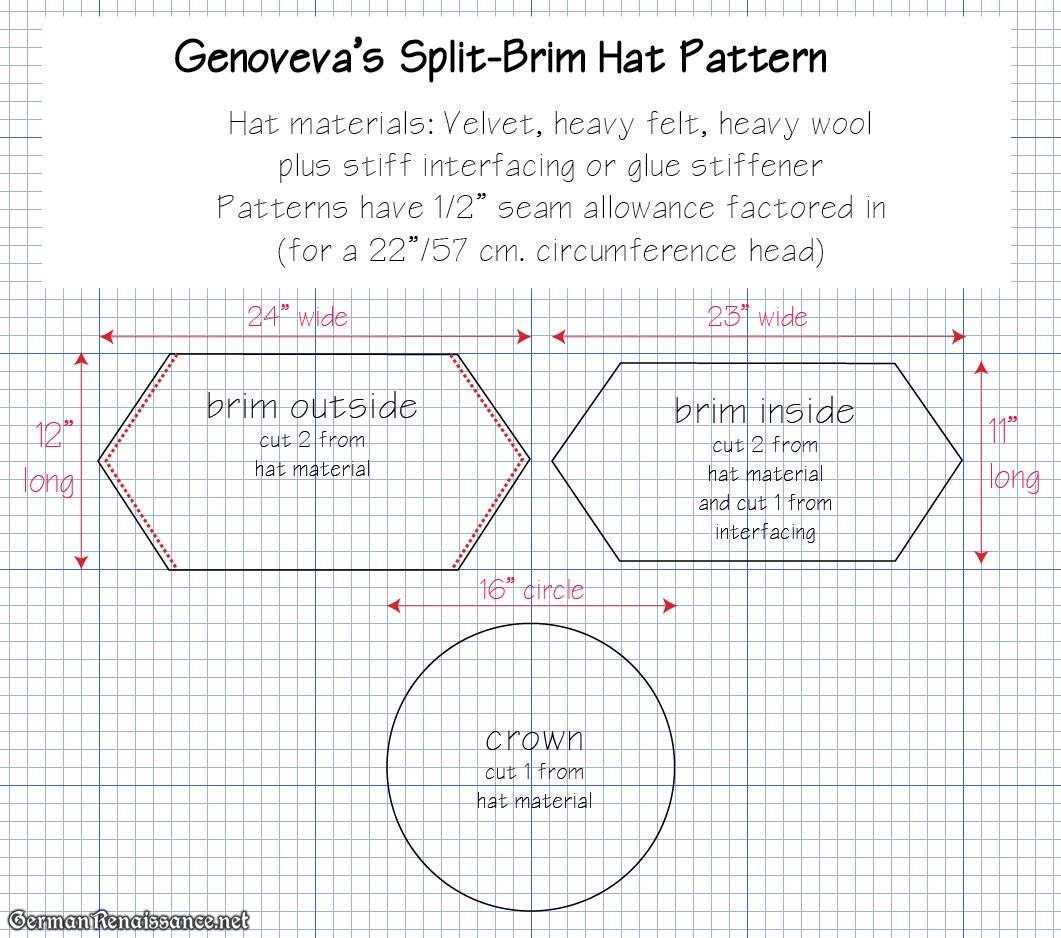 German Split-Brim Beret Hat Tutorial  2536a3f2eac