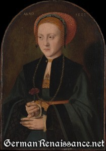 Portrait of a Woman by Barthel Bruyn the Elder (1533), The Metropolitan Museum of Art (62.267.2)